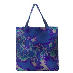 Unique Marbled Blue Grocery Tote Bags