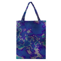 Unique Marbled Blue Classic Tote Bags