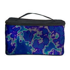 Unique Marbled Blue Cosmetic Storage Cases