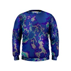 Unique Marbled Blue Boys  Sweatshirts