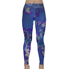 Unique Marbled Blue Yoga Leggings