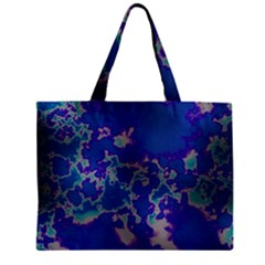 Unique Marbled Blue Zipper Tiny Tote Bags