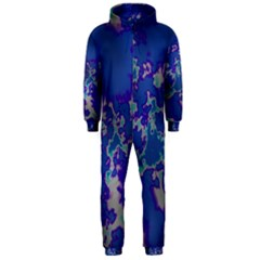 Unique Marbled Blue Hooded Jumpsuit (Men)