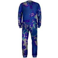 Unique Marbled Blue Onepiece Jumpsuit (men)