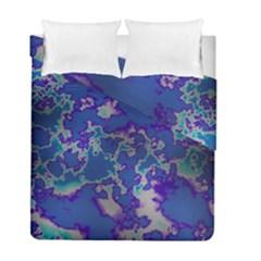 Unique Marbled Blue Duvet Cover (twin Size)
