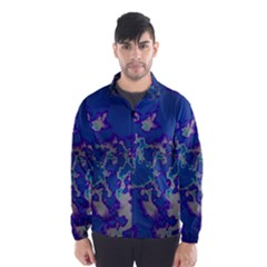 Unique Marbled Blue Wind Breaker (men)