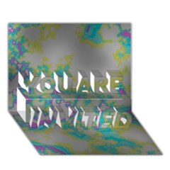 Unique Marbled Candy You Are Invited 3d Greeting Card (7x5)