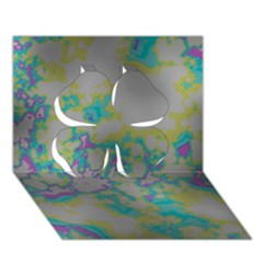 Unique Marbled Candy Clover 3D Greeting Card (7x5)
