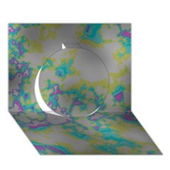 Unique Marbled Candy Circle 3d Greeting Card (7x5)