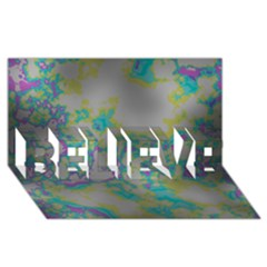 Unique Marbled Candy BELIEVE 3D Greeting Card (8x4)