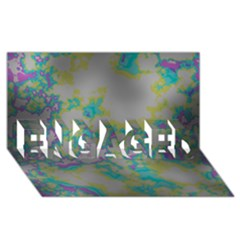 Unique Marbled Candy Engaged 3d Greeting Card (8x4)