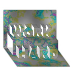 Unique Marbled Candy WORK HARD 3D Greeting Card (7x5)