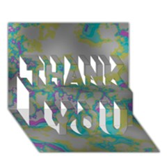 Unique Marbled Candy THANK YOU 3D Greeting Card (7x5)