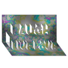 Unique Marbled Candy Laugh Live Love 3d Greeting Card (8x4)
