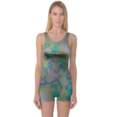 Unique Marbled Candy Women s Boyleg One Piece Swimsuits