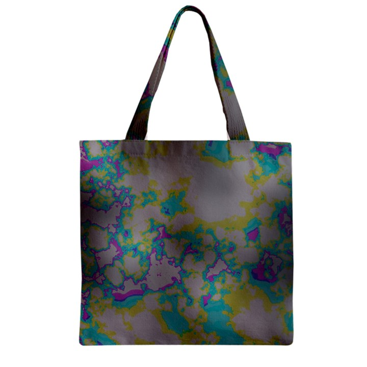 Unique Marbled Candy Zipper Grocery Tote Bags