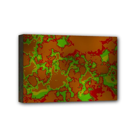 Unique Marbled Hot Mini Canvas 6  X 4