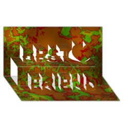 Unique Marbled Hot Best Friends 3d Greeting Card (8x4)