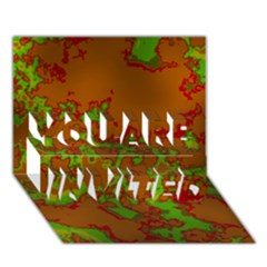Unique Marbled Hot YOU ARE INVITED 3D Greeting Card (7x5)