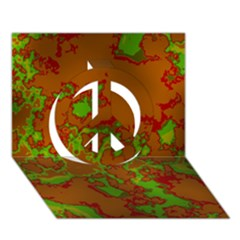 Unique Marbled Hot Peace Sign 3D Greeting Card (7x5)