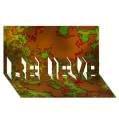 Unique Marbled Hot BELIEVE 3D Greeting Card (8x4)