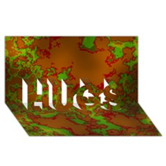 Unique Marbled Hot Hugs 3d Greeting Card (8x4)