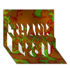 Unique Marbled Hot Thank You 3d Greeting Card (7x5)