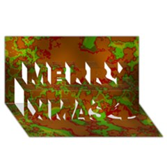 Unique Marbled Hot Merry Xmas 3d Greeting Card (8x4)