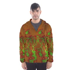 Unique Marbled Hot Hooded Wind Breaker (Men)