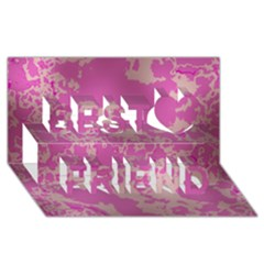 Unique Marbled Pink Best Friends 3D Greeting Card (8x4)