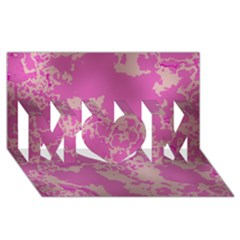 Unique Marbled Pink Mom 3d Greeting Card (8x4)