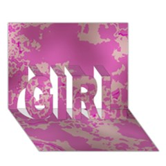 Unique Marbled Pink GIRL 3D Greeting Card (7x5)