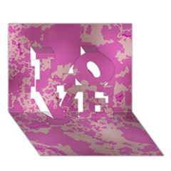 Unique Marbled Pink LOVE 3D Greeting Card (7x5)