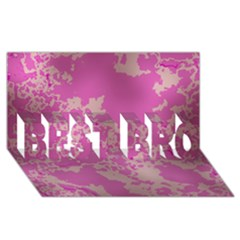 Unique Marbled Pink BEST BRO 3D Greeting Card (8x4)
