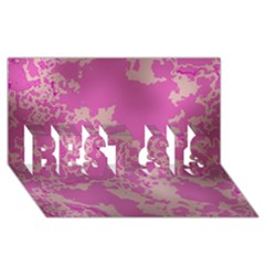 Unique Marbled Pink BEST SIS 3D Greeting Card (8x4)