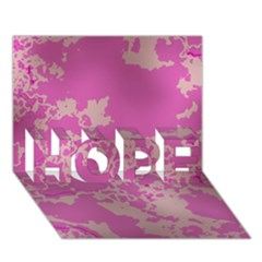 Unique Marbled Pink HOPE 3D Greeting Card (7x5)