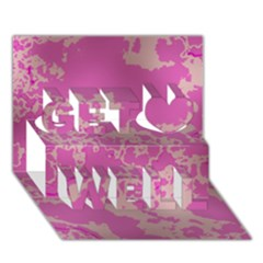 Unique Marbled Pink Get Well 3D Greeting Card (7x5)