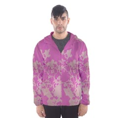 Unique Marbled Pink Hooded Wind Breaker (Men)