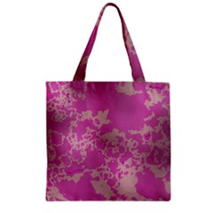 Unique Marbled Pink Zipper Grocery Tote Bags