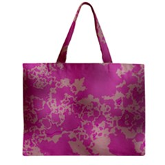 Unique Marbled Pink Zipper Tiny Tote Bags