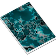 Unique Marbled Teal Large Memo Pads