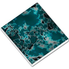 Unique Marbled Teal Small Memo Pads