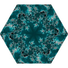Unique Marbled Teal Mini Folding Umbrellas