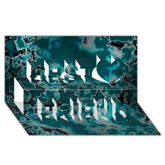 Unique Marbled Teal Best Friends 3d Greeting Card (8x4)