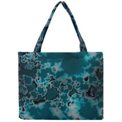 Unique Marbled Teal Tiny Tote Bags