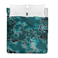 Unique Marbled Teal Duvet Cover (twin Size)