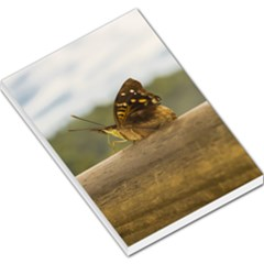 Butterfly Against Blur Background At Iguazu Park Large Memo Pads