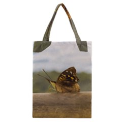 Butterfly against Blur Background at Iguazu Park Classic Tote Bags