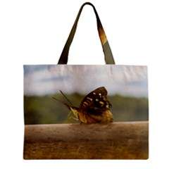 Butterfly against Blur Background at Iguazu Park Zipper Tiny Tote Bags