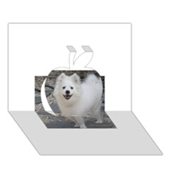 American Eskimo Dog Full Apple 3D Greeting Card (7x5)